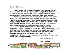 summer welcome letter for primary grades summer and teacher