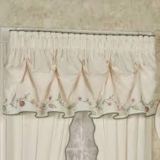 pretty posy floral tuck valance window treatment