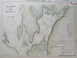 map of ma and ri fall river ma and bristol ri sold antique maps and charts