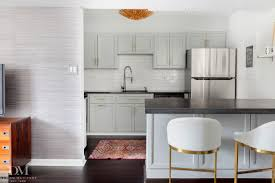 makeover a small condo kitchen with black cabinets youtube