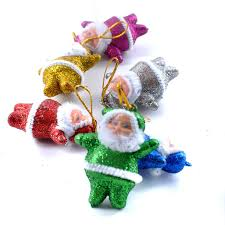 handmade cool toys ornaments mixed 6 colors santa