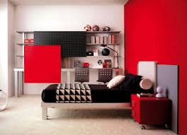 bedroom gorgeous red and black themed cool teen room designs on