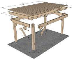 Diy Pergola Kits by Plan For A 12 U2032 X 20 U2032 Timber Frame Over Sized Diy Pergola