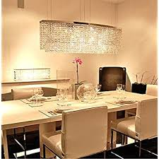Rectangular Light Fixtures For Dining Rooms Siljoy Modern Chandelier Lighting Rectangular Oval Pendant