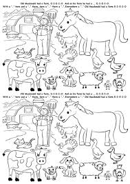 farm animals worksheet preschool funny in coloring sheets