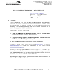 analytical report template sle ecommerce website report v2