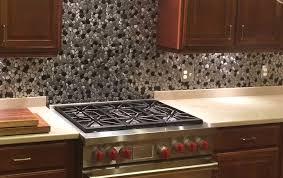 stainless kitchen backsplash black and silver river rock pattern mosaic stainless steel tile emt 1