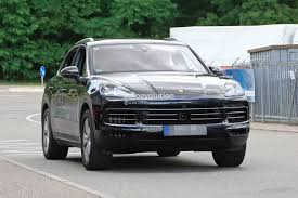 2018 porsche cayenne prototype suggests full width taillights