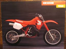 honda cr 500 vintage bike ads