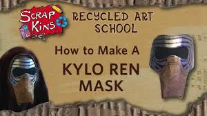 how to make a kylo ren mask from junk scrapkins diy star wars