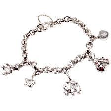white gold bracelet with charms images Chopard happy diamond elephant ruby ladybug bear heart white gold jpg