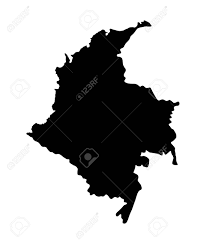 colombia map vector republic of colombia vector map isolated on white background