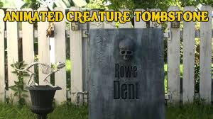 how to make fake tombstones for halloween halloween animated creature tombstone youtube