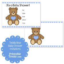 teddy baby shower invitations blue printable teddy baby shower invitations printable