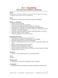 New Zealand Job Interview Microsoft Word Confidence Doc Job Interview Confidence Workshop
