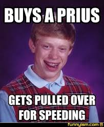 Speeding Meme - buys a prius gets pulled over for speeding meme factory funnyism