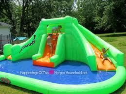 bring the water park to your back yard with blast zone crocodile