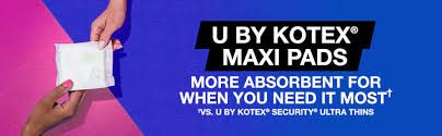 Most Comfortable Maxi Pads U By Kotex Security Maxi Pads Regular Unscented Choose Your