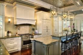 kitchen island with seating and stove tile backsplash unfinished