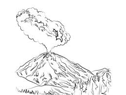 lassen peak volcano eruption coloring page coloring games