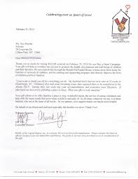 charity donation letter thank you kitware s fund raising bake sale for the ronald mcdonald house in appreciation for the donation we sent