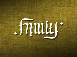 outstanding family forever ambigram in 2017 photo