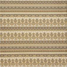 light brown grey ornament stripe metallic fabric robert