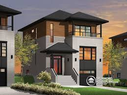small modern house plans for narrow lots home decor for narrow