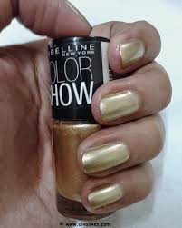maybelline color show nail lacquer bold gold 008 review diva likes