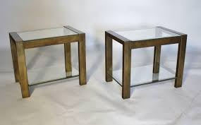 metal and glass end tables target