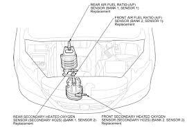 2005 honda odyssey p0420 p0154 code where is the air fuel sensor