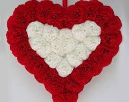 Wall Decorations For Valentine S Day valentines day wreath wedding wreath valentines door decor