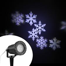 Light Flurries Snowflake Projector by Tomshine Christmas Pumpkin Ghost Heart Snowflake Rotating Led