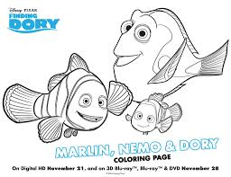 finding dory colouring pages and activity sheet printables in