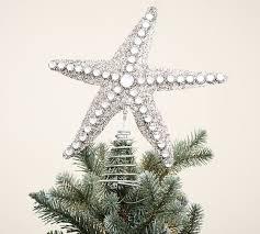 glitter starfish tree topper pottery barn