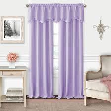 Lavender Window Curtains Elrene Adaline Lavender Polyester Single Blackout Window Curtain