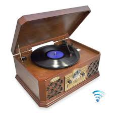 bluetooth wireless streaming classic retro style record player