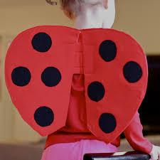 handmade dress up diy very quick ladybug wings tutorial