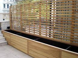 contemporary natural slatted panels essex uk the garden