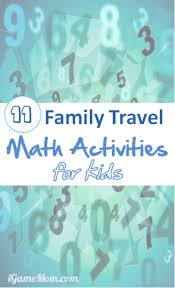 travel math images Math activities for family vacation and holiday travels jpg