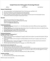 Information Technology Resume Samples by Resume Format Word Document Download Resume Templates Word Resume