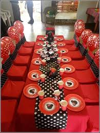 minnie mouse party and black mickey and minnie mouse birthday decorations image