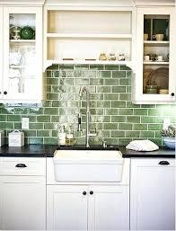 kitchen backsplash glass tile ideas subway tile backsplash pictures sleek and gorgeous green glass