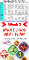 whole food for 30 days meal plan week two hustle u0026 heart fitness
