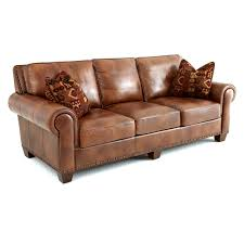 Chestnut Leather Sofa Steve Silver Silverado Leather Sofa With 2 Accent Pillows
