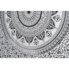 Black And White Wall Decor by Ombre New Mandala Ethnic Indian Tapestries