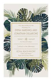 vistaprint black friday palm leaves wedding invitation vistaprint wedding pinterest