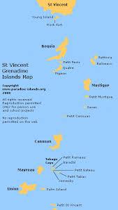 st islands map grenadine islands map st vincent grenadines