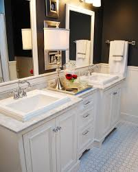 bathrooms with white cabinets bathroom white cabinets dark floor www islandbjj us