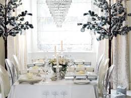winter wonderland table setting holiday party decorating